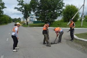 Ремонт дороги на улице Замараева