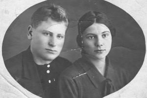 Анатолий Козлов с сестрой Зинаидой