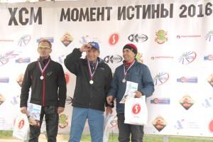 Третье место среди ветеранов у нашего Василия Арапова (на фото справа)
