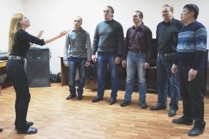 """На репетиции вокального ансамбля """"Мужики"""""""