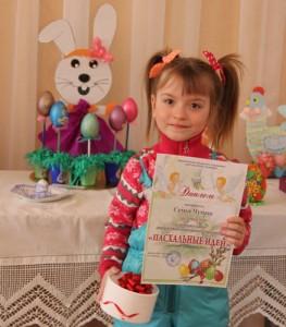 Самая маленькая участница конкурса Эвелина Чумаш