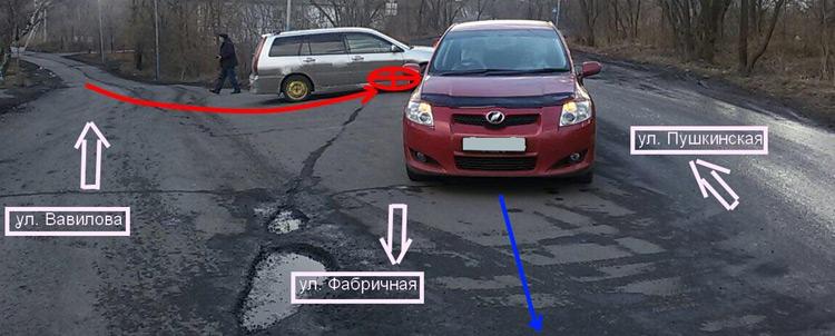 Водитель универсала не уступил дорогу автомобилю, пользующемуся преимущественным правом проезда перекрестков