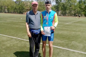Гордей Капуста со своим наставником Владимиром Кулигиным