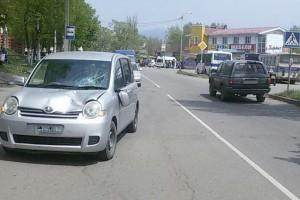 В аварии пострадала женщина-пешеход