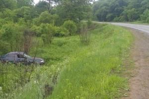 Перевернув авто, водитель скрылся с места ДТП
