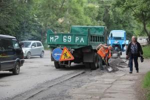 На участке дороги на улице Щорса будет уложено 450 м2  нового асфальта