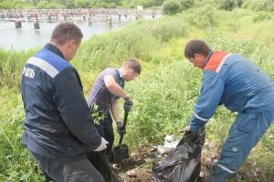 Волонтеры с Партизанской ГРЭС собрали два самосвала мусора