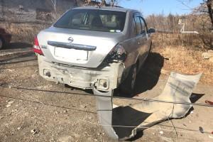 Российский автомобиль без водителя врезался в «японку»