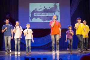 Команда победителя конкурса волонтеров Анны Солоповой