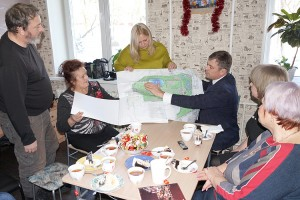 Глава округа представил журналистам дизайн-проект городского парка