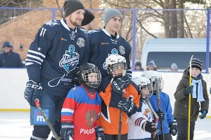 У юных спортсменов сбылась заветная мечта - сыграть с хоккеистами «Адмирала»