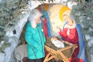 В рождественском вертепе