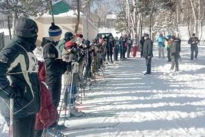 Отличная лыжня в городском парке