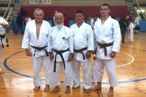 Фото на память с мастером Хидео Очи. Крайний справа - Марат Ильясов