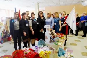 Выставка русских кокошников от делегации женщин из Партизанска