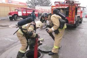 Сотрудники 6 ОФПС справились с условным пожаром за полчаса