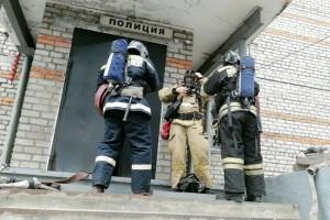К моменту прибытия пожарных все сотрудники ОМВД эвакуировались самостоятельно
