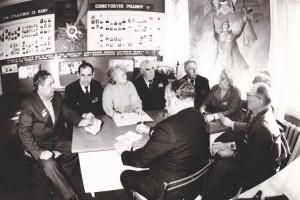 Участники Клуба фронтовых друзей в музее шахтоуправления им. Аллилуева