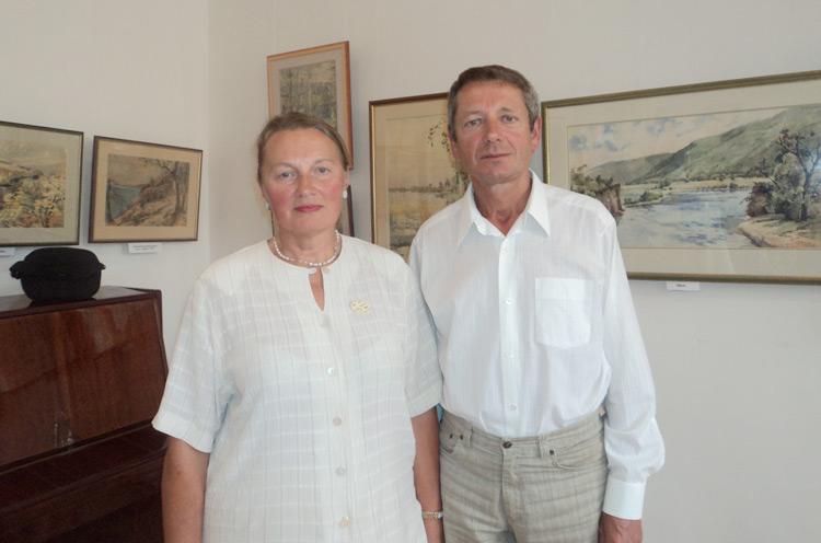 Правнук Владимира Френца Андрей Балихин с супругой