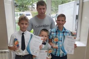 Николай Тихонов со своими  воспитанниками