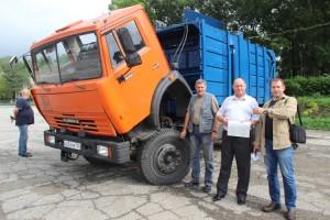 КАМАЗ-мусоровоз выйдет на линию незамедлительно