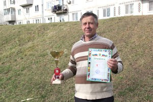 Капитан сборной шахматистов Партизанска Сергей Чайка