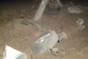 Водитель врезался в опору освещения и скрылся с места ДТП