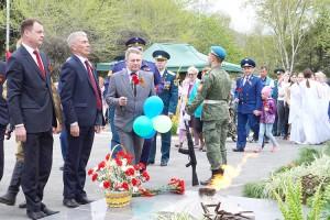День Победы депутат Александр Лось встретил с партизанцами