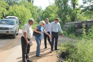 Дорожные объекты глава округа принимает вместе с жителями