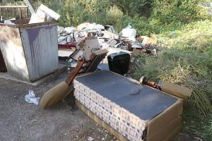 Мебели и сантехники порой приносят к контейнерам столько, что можно обставить однокомнатную квартиру