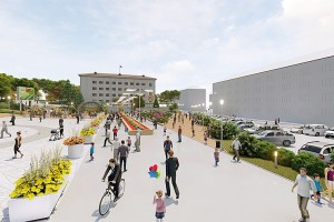Одна из четырех предложенных для обустройства территорий - городская площадь