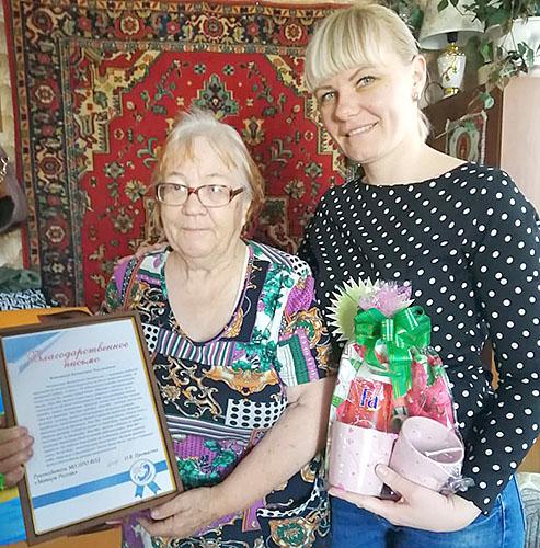 В гостях у Валентины Конкиной