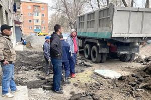 Ремонт дворовых территорий начали с Ленинской, 38