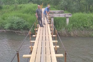 Мост руками добровольцев