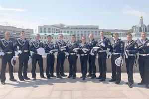 Партизанцы-тихоокеанцы на юбилейном параде Победы в Москве