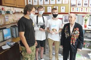 Ветеран Великой Отечественной войны Михаил Андреевич Романенко - выпускник горнопромышленной школы