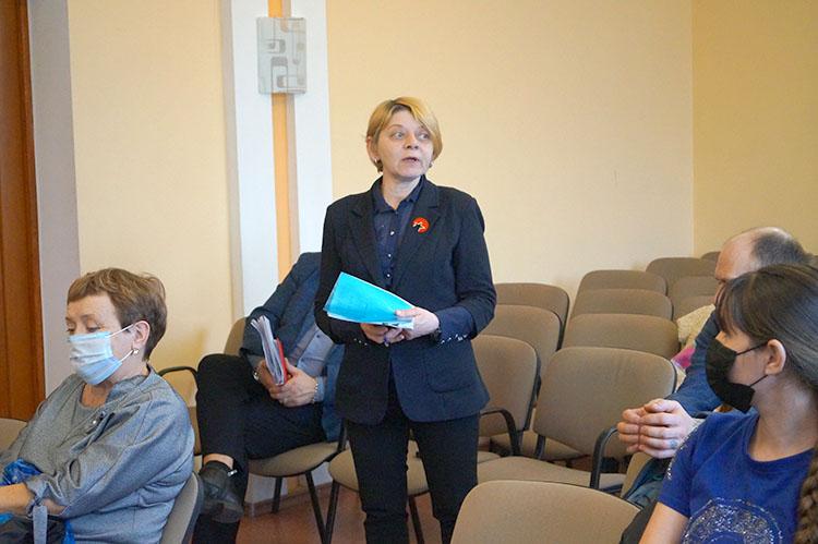 Людмила Шароня предлагает обновить сквер возле городского Дворца культуры