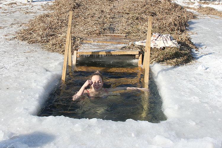 Крещенская купель на реке Партизанской