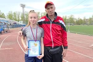 Полина Алтухова с тренером Владимиром Кулигиным
