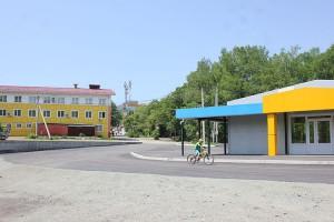 Здание новой автостанции с залом ожидания, санузлом и кассой