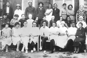 Коллектив сучанской горбольницы. 1932 год