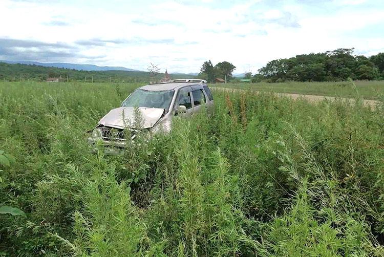 В селе Бровничи автомобиль слетел с дороги