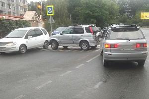ДТП на перекрестке на улице Центральной