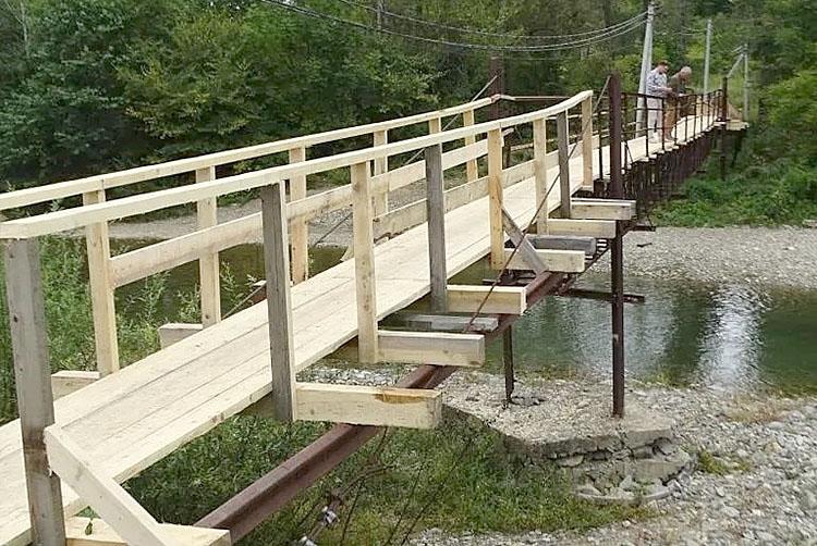 Мост отремонтировали благодаря гранту от «Единой России»